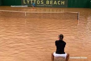 Πέτρος Τσιτσιπάς: Παγκόσμιο... θέμα ο αγώνας στο κορτ-πισίνα στην Κρήτη (Εικόνες - Βίντεο)