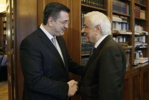 Συνάντηση του Απόστολου Τζιτζικώστα με τον Πρόεδρο της Δημοκρατίας Προκόπη Παυλόπουλο