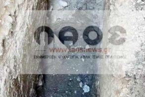 Ελέγχονται πέτρες στην εκσκαφή της ΔΕΥΑΒ στο κέντρο της Βέροιας που διακόπτουν και πάλι τις εργασίες