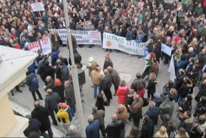 Συγκέντρωση   διαμαρτυρίας του    Ν.Τ ΑΔΕΔΥ Ημαθίας   για μισθολογικό   και ασφαλιστικό