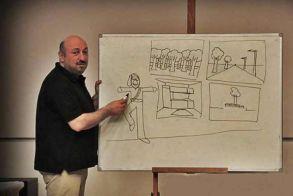 Τρίτο σεμινάριο σκίτσου στην Εύξεινο Λέσχη Βέροιας με τον σκιτσογράφο Δημήτρη Νικολαΐδη