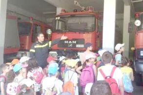 Μαθητική επίσκεψη στην  Πυροσβεστική Υπηρεσία  Νάουσας