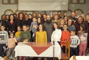 Το δείπνο της «Αγάπης»   προσέφερε o π. Λάζαρος   Μουρατίδης σε κατηχούμενους