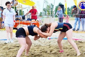 Χάλκινη η Γεωργία Γκουγκούδη  του Ημαθίωνα Αλεξάνδρειας στο Πανελλήνιο πρωτάθλημα πάλης στην άμμο