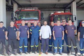 Στην Πυροσβεστική Υπηρεσία Βέροιας ο βουλευτής Τάσος Μπαρτζώκας