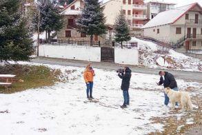 Χιονάκι χθες σε Βέρμιο και Πιέρια