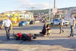 «Τρακάρισμα» χθες το απόγευμα στην Περιφερειακή Οδό Βέροιας