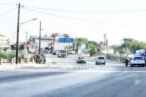 Τροχαίο ατύχημα στην γέφυρα των παλαιών σφαγείων στη Βέροια