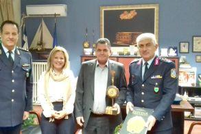 Στον Αντιπεριφερειάρχη Ημαθίας,   ο νέος Γενικός Περιφερειακός   Αστυνομικός Διευθυντής Κ. Μακεδονίας