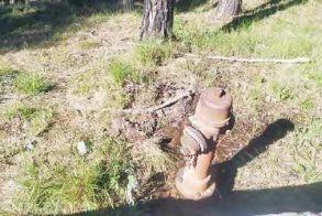 Διαρροή σε πυροσβεστικό κρουνό στο Άλσος Παπάγου Βέροιας