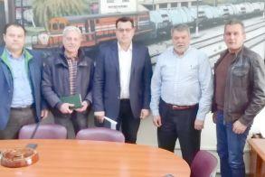 Βάσεις συνεργασίας με ΟΣΕ και ΓΑΙΑ-ΟΣΕ Ο Κ. Ναλμπάντης με συνεργάτες του  συναντήθηκαν  με στελέχη των επιχειρήσεων