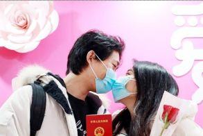 Βαλεντίνος με μάσκες  στην Κίνα