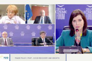 Οικονομικό Φόρουμ των Δελφών Άννα Μισέλ Ασημακοπούλου: «Η εξωστρέφεια και ο ψηφιακός μετασχηματισμός των ΜμΕ, κλειδί για την ανάκαμψη της ελληνικής οικονομίας στην μετά-COVID εποχή»