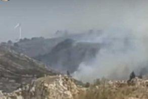 Οι ισχυροί άνεμοι δυσχεραίνουν την κατάσβεση της φωτιάς στα όρια Κοζάνης – Ημαθίας, πάνω από την Ζωοδόχο Πηγή