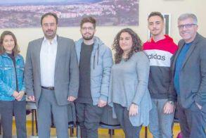 Τον Δήμαρχο Βέροιας επισκέφθηκαν μαθητές του   5ου ΓΕΛ Βέροιας