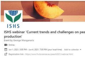 1-4 Ιουνίου Διαδικτυακό συνέδριο: Σύγχρονες τάσεις και προκλήσεις στην καλλιέργεια ροδακινιάς