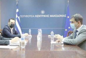 Συνάντηση του Περιφερειάρχη Κεντρικής Μακεδονίας Απόστολου Τζιτζικώστα με τον Υπουργό Τουρισμού Χάρη Θεοχάρη