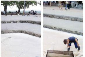 «Παγίδα» για τους μικρούς στο σιντριβάνι της Ελιάς