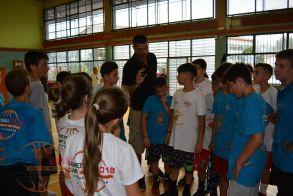 Προπόνηση  – Παιχνίδι την 4η μέρα του Veria Basketball Camp 2018.