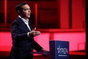 Tο σχέδιο του ΣΥΡΙΖΑ - Π. Σ. για τη «βιώσιμη επανεκκίνηση της οικονομίας» παρουσίασε Αλέξης Τσίπρας