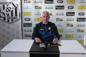 Για «ποδοσφαιρικό πολιτισμό» μίλησε στη συνέντευξη τύπου ο Βασίλης Αργυρίου