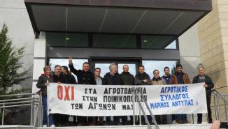 4 μήνες φυλάκιση με αναστολή στους αγρότες για τις περσινές κινητοποιήσεις.