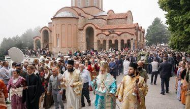 Με λαμπρότητα γιορτάστηκε η Παναγία στη Σουμελά του Βερμίου