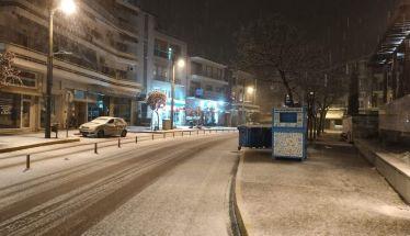 Σαν πρωταπριλιάτικο ψέμα το σημερινό  πρώτο χιόνι στη Βέροια