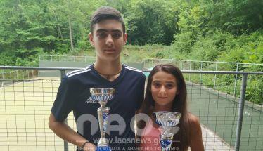 Ο Θανάσης Στεφανόπουλος  και η Κάτια Πατσίκα σήκωσαν  το Ε3 στη Νάουσα - Ο Μιχάλης Πατσίκας και η Ανθή Μανωλοπούλου στα μετάλλια