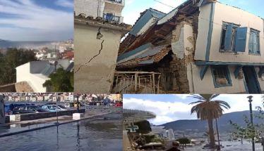 Πολύ ισχυρός σεισμός 6,7 Ρίχτερ βόρεια της Σάμου, αισθητός σχεδόν σε όλη την χώρα, ζημιές σε κτίρια, τσουνάμι έβγαλε την θάλασσα στην στεριά