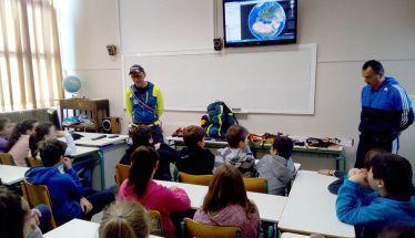 Ενημερωτική επίσκεψη σχετικά με την ορειβασία του Γιώργου Καισαρίδη στο 5ο ΔΣ Νάουσας