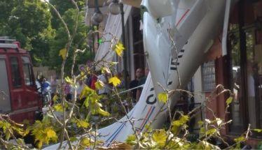 Έπεσε μονοκινητήριο αεροπλάνο σε σπίτι στις Σέρρες