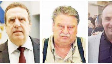 Τρεις τιμητικές πλακέτες σε Γ. Καρανίκα,  Ν. Ουσουλτζόγλου και Ι. Χατζόγλου από  τον Εμπορικό Σύλλογο Βέροιας
