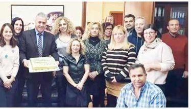 Την 10η, κατά σειρά ετών, πίτα της Διεύθυνσης  έκοψε χθες ο Δ. Διαμαντόπουλος