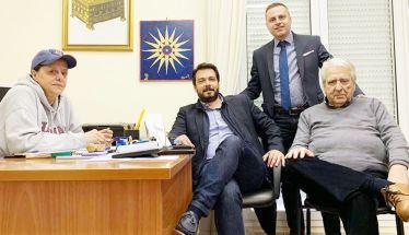 Επίσκεψη του Τάσου Μπαρτζώκα  στα γραφεία του Συλλόγου Βεροιέων Αθήνας