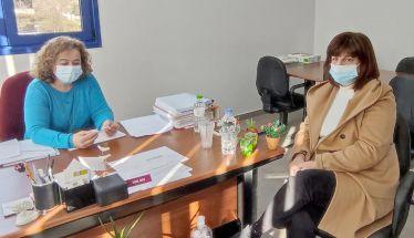 Επίσκεψη της Φρόσως Καρασαρλίδου στον ΕΛΓΑ Ημαθίας για τις αγροτικές αποζημιώσεις