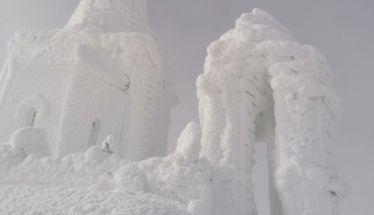 Χειμερινή ανάβαση, στους -12 Βαθμούς Κελσίου,  από μέλη του ΕΟΣ Νάουσας στην κορυφή του Καϊμακτσαλάν!