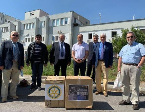 Δωρεά του Ροταριανού Ομίλου Βέροιας στο Νοσοκομείο για την καταπολέμηση του COVID-19