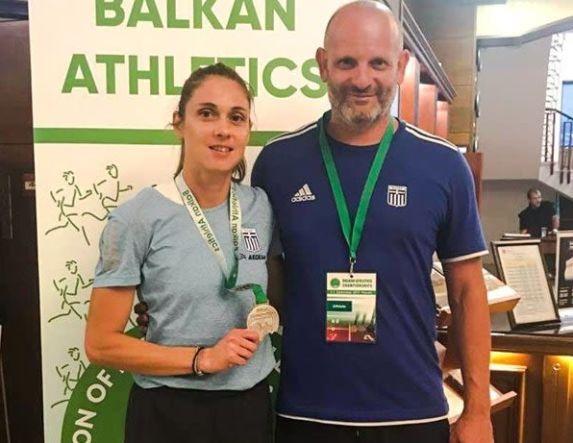 Ασημένιο μετάλλιο στο μήκος η Έφη Κολοκυθά στους Βαλκανικούς.