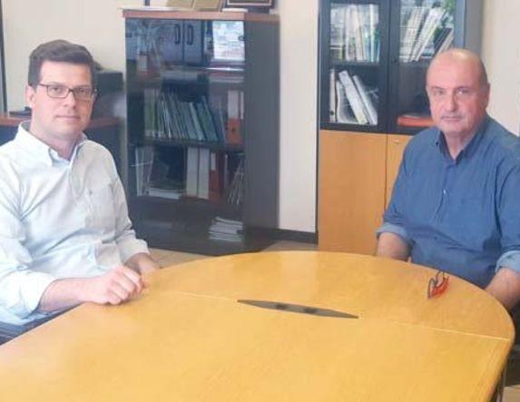 Με τον πρόεδρο του ΕΛΓΑ Φανή Κουρεμπέ συναντήθηκε ο  Άγγελος Τόλκας για την αποτελεσματική κάλυψη των αγροτών