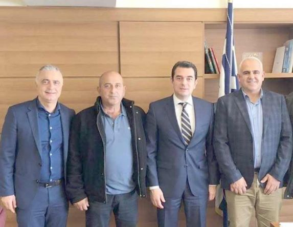 Ζητήματα των ΤΟΕΒ Νάουσας και  Ζερβοχωρίου έθεσε στον Υφυπουργό Κ. Σκρέκα ο Λ. Τσαβδαρίδης