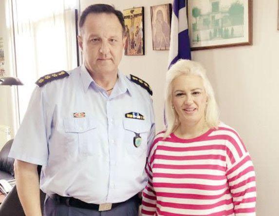 Επίσκεψη της Ολυμπίας Σουγιουλτζή-Γκασνάκη  στην Αστυνομική Διεύθυνση Ημαθίας