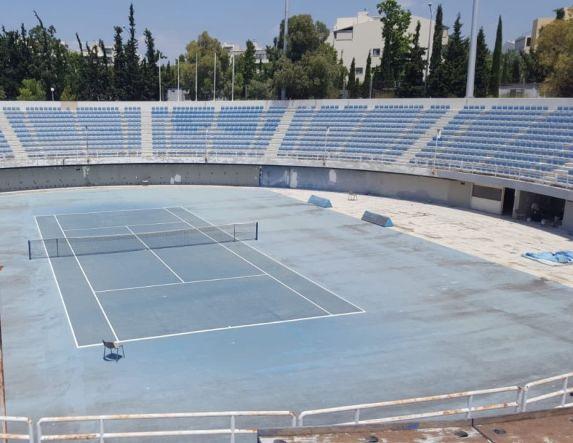 ΤΕΝΙΣ - Στις αναβαθμισμένες εγκαταστάσεις του ΟΑΚΑ το Πανελλήνιο Πρωτάθλημα Juniors! - Αυτοψία του Υφυπουργού Αθλητισμού (φωτό)