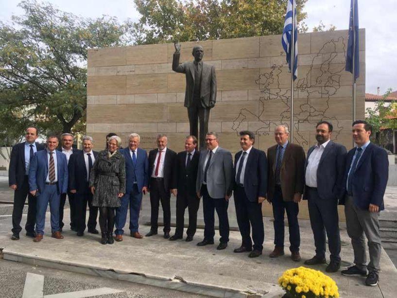 Στην παρουσίαση του «Δικτύου Πόλεων του Μεγάλου Αλεξάνδρου» έδωσε το «παρών»  ο Δήμαρχος Νάουσας Νικόλας Καρανικόλας