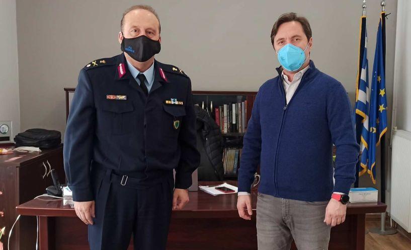 Συνάντηση του Δημάρχου Νάουσας με τον νέο Αστυνομικό Διευθυντή Ημαθίας Ταξίαρχο κ. Γιώργο Αδαμίδη