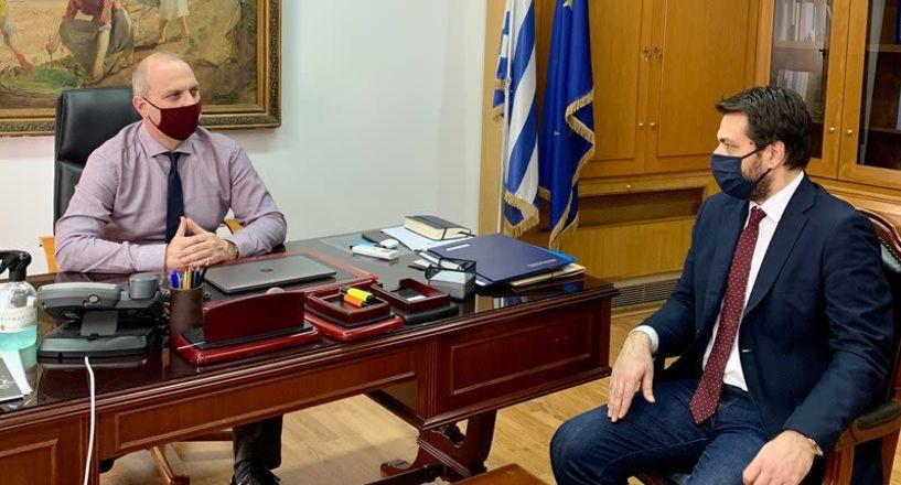 Νέα ΚΑΠ, θέματα των Αγροτικών Συλλόγων και μεγάλα έργα τα ζητήματα που έθεσε ο Τάσος Μπαρτζώκας στον Υφυπουργό Αγροτικής Ανάπτυξης