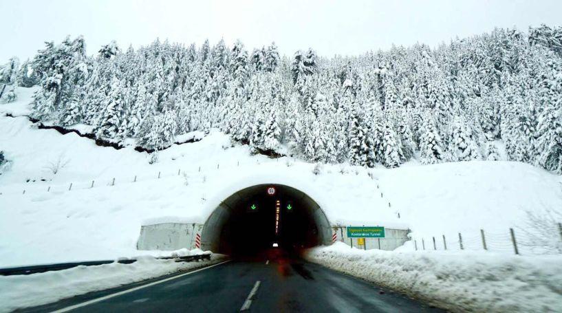 Οδηγώντας στην Εγνατία Οδό την χειμερινή περίοδο