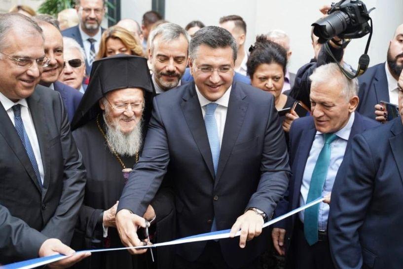 Το νέο Κτίριο Υπηρεσιών της Περιφέρειας εγκαινίασαν ο Οικουμενικός Πατριάρχης Βαρθολομαίος και ο Απ. Τζιτζικώστας