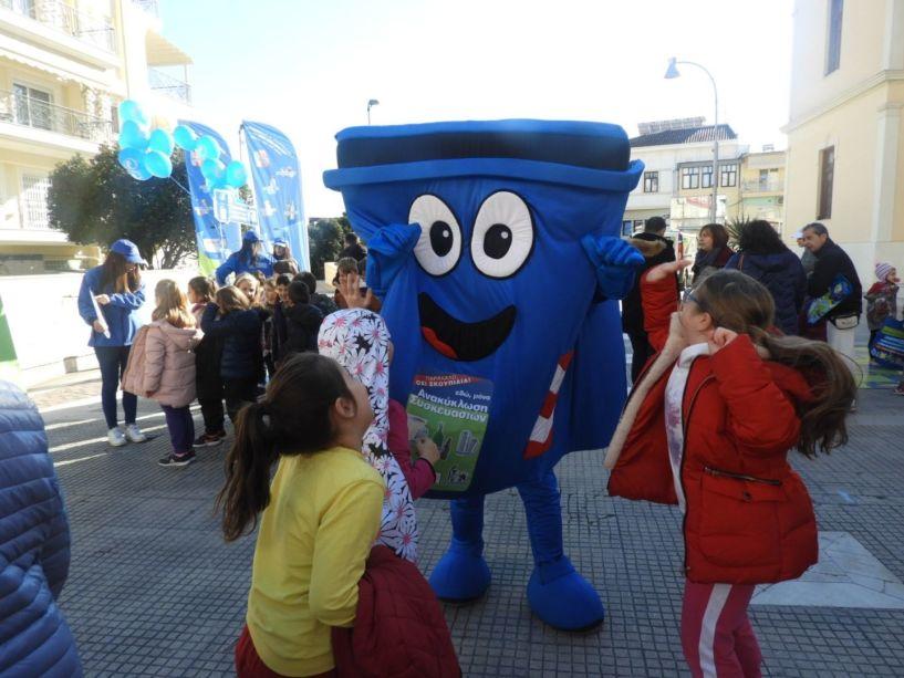 Ανακύκλωση στους μπλε κάδους