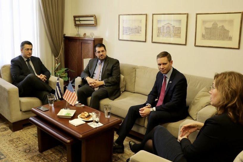 Συνάντηση του Απ.Τζιτζικώστα με Burger και Pfleger για την συμμετοχή των ΗΠΑ στην επικείμενη έκθεση Τεχνολογίας και Καινοτομίας Beyond 4.0